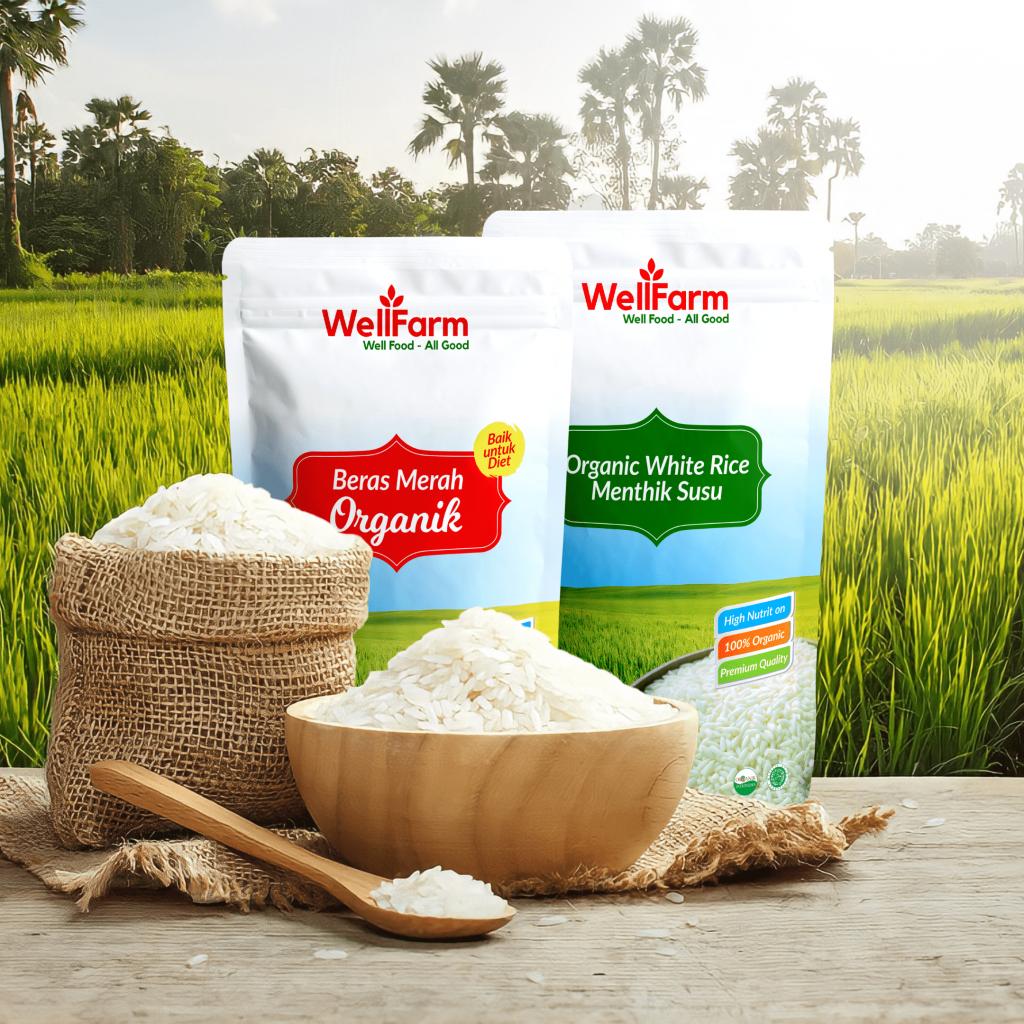 beras merah putih organik di malang